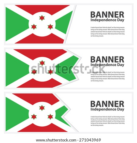 burundi  Flag banners collection independence day - stock vector