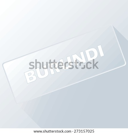 Burundi unique button for any design. Vector illustration