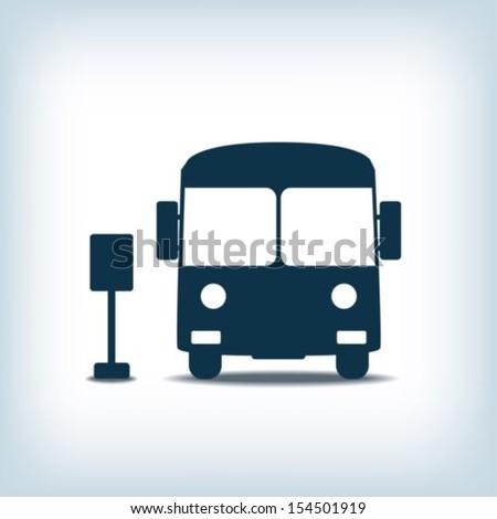Bus icon - stock vector