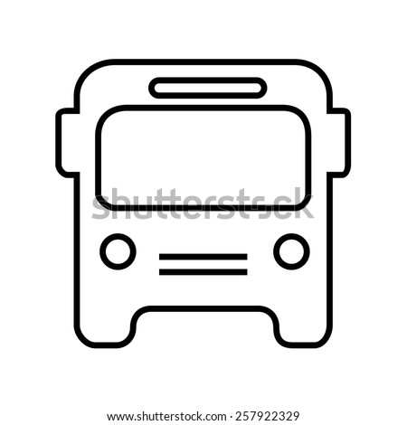 Bus icon outline - stock vector