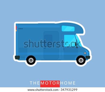 Recreational Motor Home Vehicle Camper Van Caravan Bus Rv Mobile