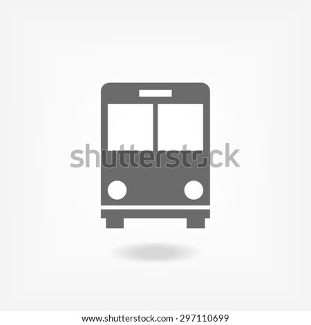 Bus. icon. Vector Eps 10 - stock vector