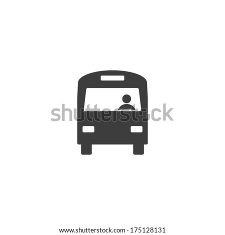 Bus icon, vector illustration. Flat design style - stock vector