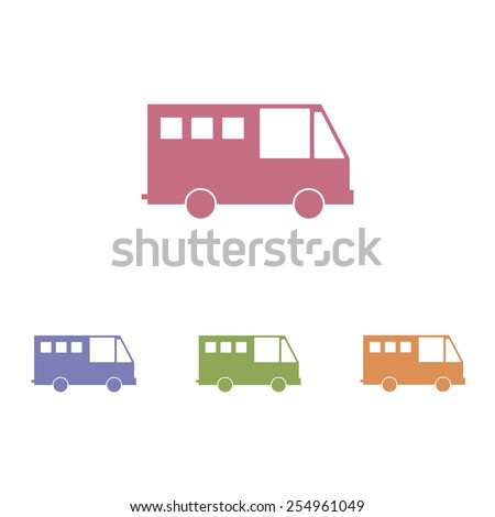 Bus icons - stock vector
