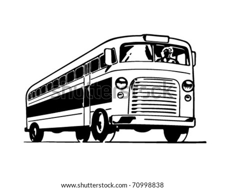 Bus - Retro Ad Art Illustration - stock vector