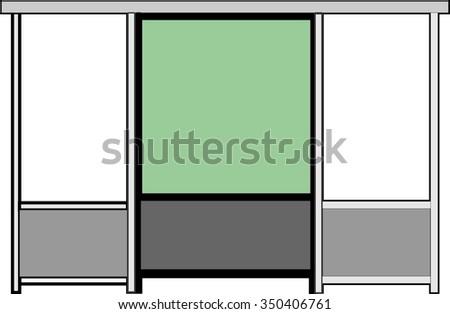 Bus shelter / bus stop - stock vector
