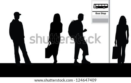 Bus Stop ad Vector Bus Stop Stock Vector