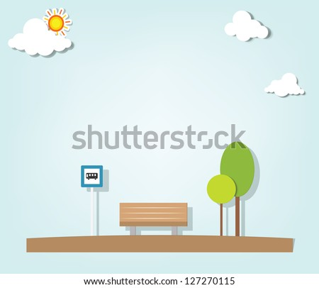 bus stop - stock vector