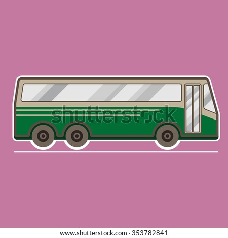 Bus, transportation vehicles, Flat style vector illustration - stock vector