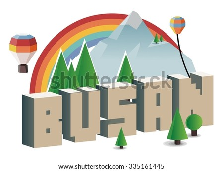 Busan, beautiful destination to visit - stock vector