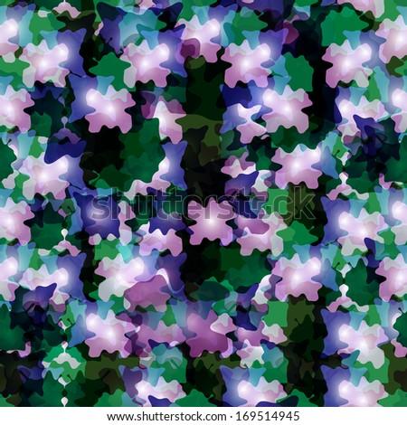 Bush seamless pattern, vector illustration for your design, eps10. - stock vector