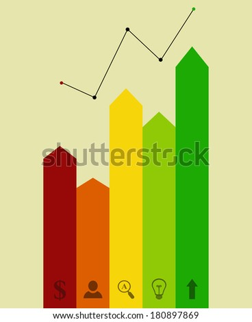 busines concept of colorful block - stock vector