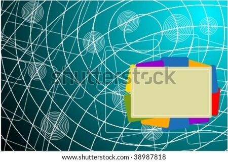 Business abstract background withh modern design for your art-work. - stock vector