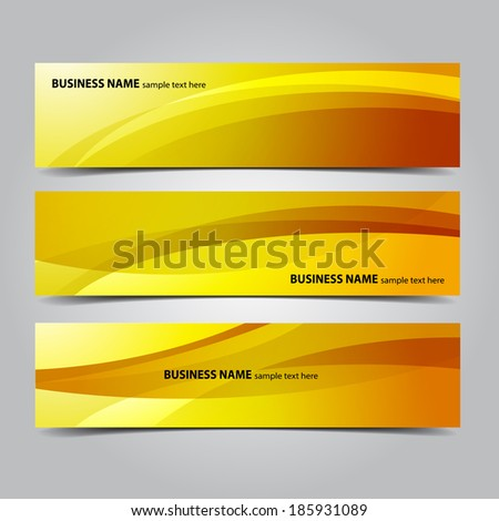 Business Abstract Banners - stock vector