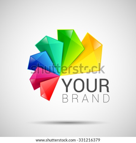 Business Abstract colorful logo on white background, excellent vector illustration, EPS