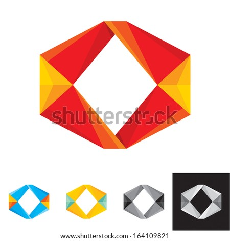 Business Abstract Icon. Corporate, Media, Technology styles vector logo design template. - stock vector