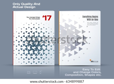 Business Abstract Vector Template Brochure Design Stock Vector