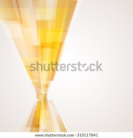 Business abstract yellow background. Vector illustration. - stock vector