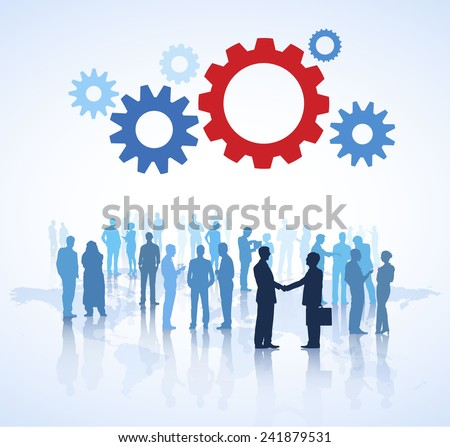 Business Agreement - stock vector