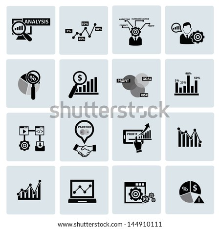 Business Analysis concept icons,vector - stock vector