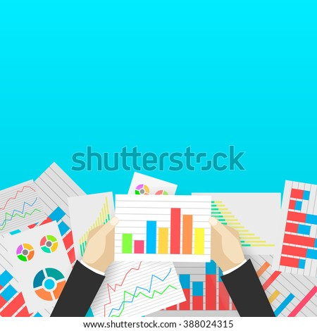 Business analytics and financial audit.  - stock vector