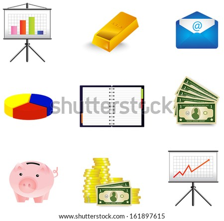 Business and economic icon collection set, create by vector  - stock vector