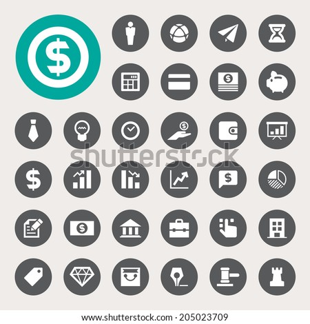 business and finance icon set .Illustration eps10 - stock vector