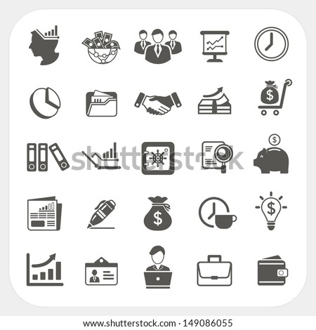 Business and finance icons set - stock vector