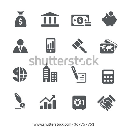 Business and Finance Icons // Utility Series