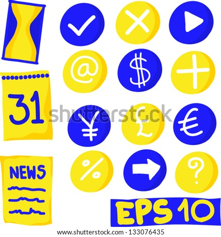 Business and finance Icons vector : set 4