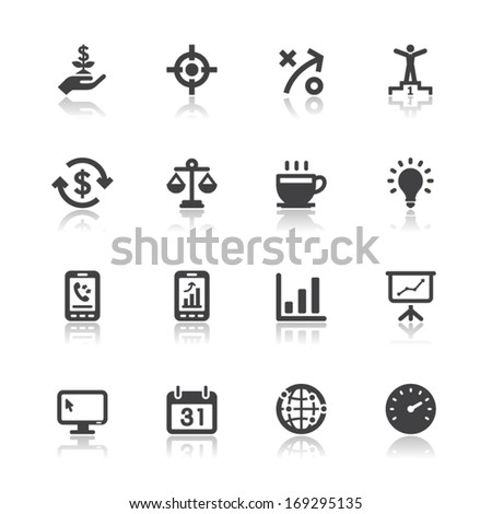 Business and Finance Icons with White Background - stock vector
