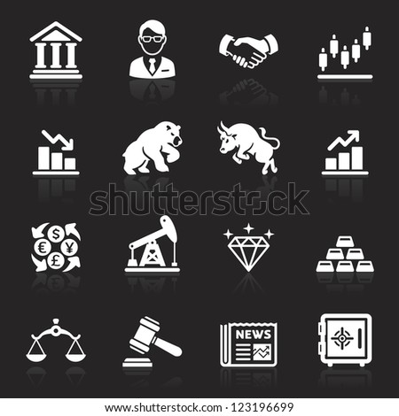 Business and finance stock exchange icons. Vector illustration - stock vector