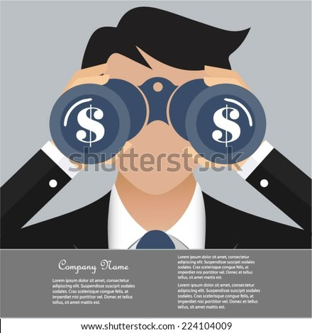 Business and finance vision concept - stock vector
