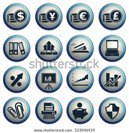 Business and Finance Web Icons for web icons