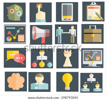 Business and management icons - stock vector