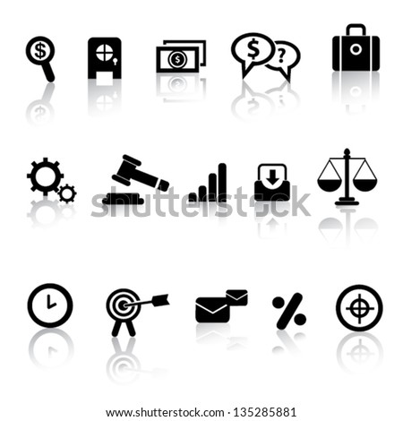 Business and marketing icon set,vector - stock vector