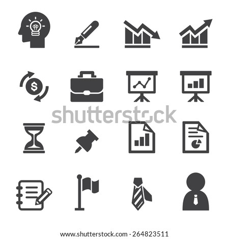 business and office icon - stock vector