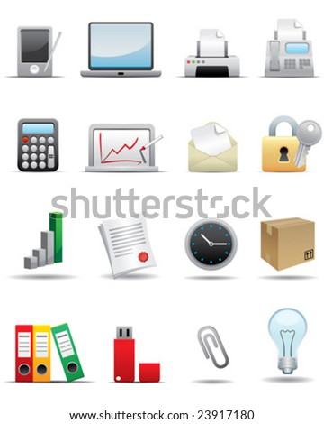 Business and Office Icon Set -- Premium Series - stock vector