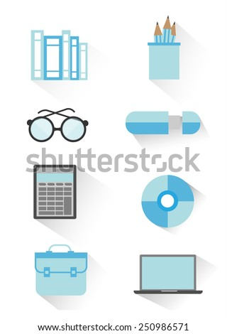 Business and Office Icons. vector - stock vector
