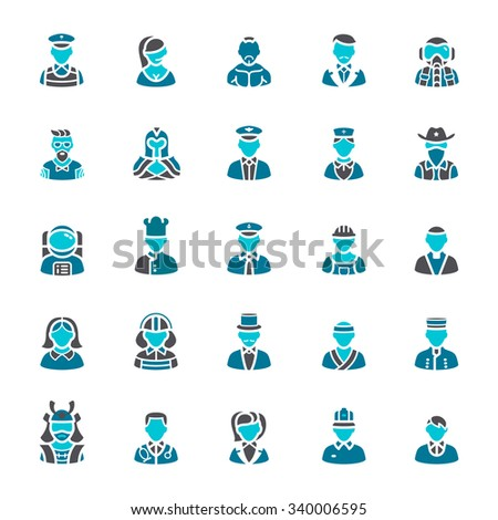 Business and people icons - stock vector