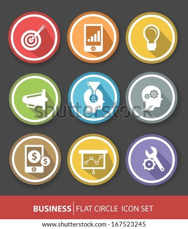 Business and strategy buttons,vector - stock vector