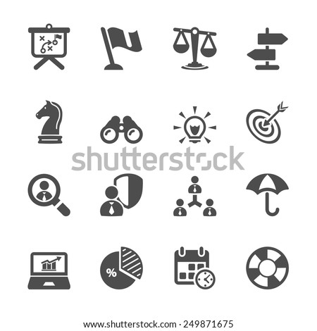 business and strategy icon set 2, vector eps10. - stock vector