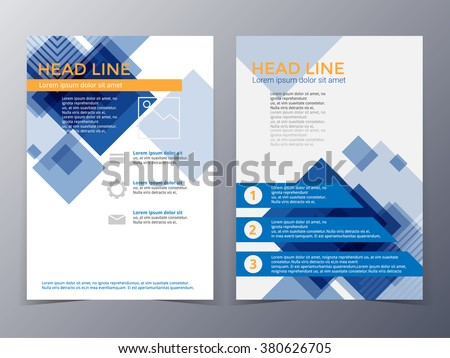 Business And Technology Brochure Design Template Vector In A4 Size For Use  As Company Annual Report