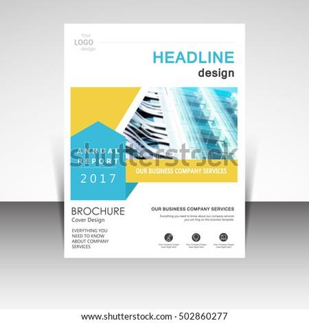 Business Annual Report Brochure Design Vector Stock Vector 502860277    Shutterstock