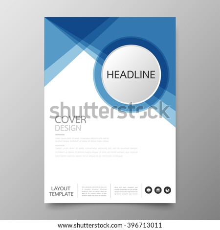 Business annual report cover template designgeometric stock photo business annual report cover template designometric circle abstract backgroundyout in a4 size flashek Choice Image