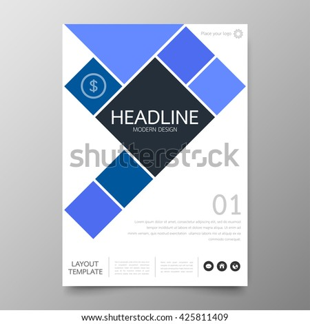 Vector Business Front Back Flyer Template Stock Vector 227359435
