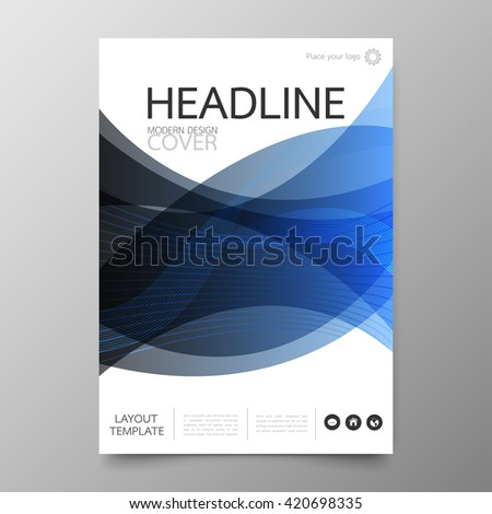 Business annual report cover template design.Geometric triangle abstract background.Layout in A4 size