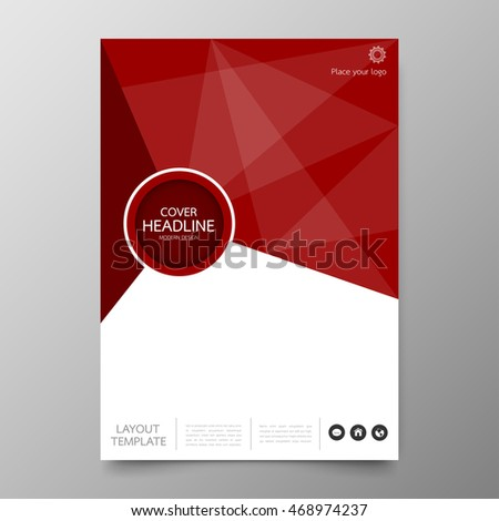 Business Annual Report Cover Template Modern Design.Geometric Triangle  Abstract Background.Layout And Leaflet  Annual Report Cover Template