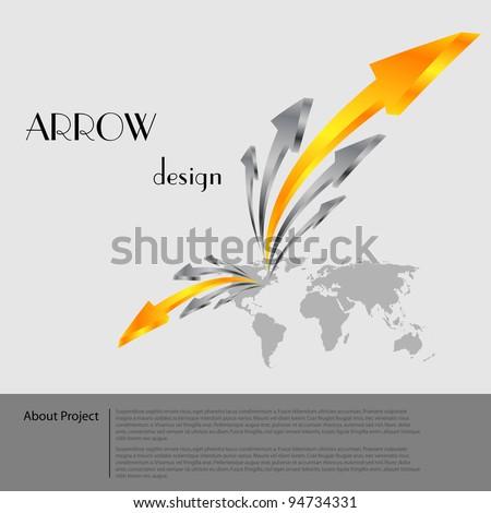 Business arrow presentation template - stock vector