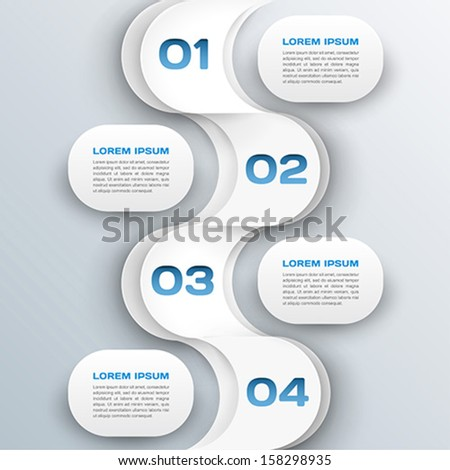 business background - abstract 3d paper infographics template - stock vector